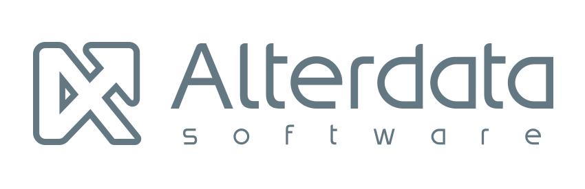 logotipo Alterdata monocromático